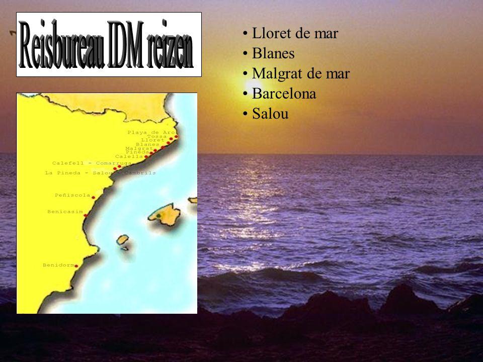 Reisbureau IDM reizen Lloret de mar Blanes Malgrat de mar Barcelona