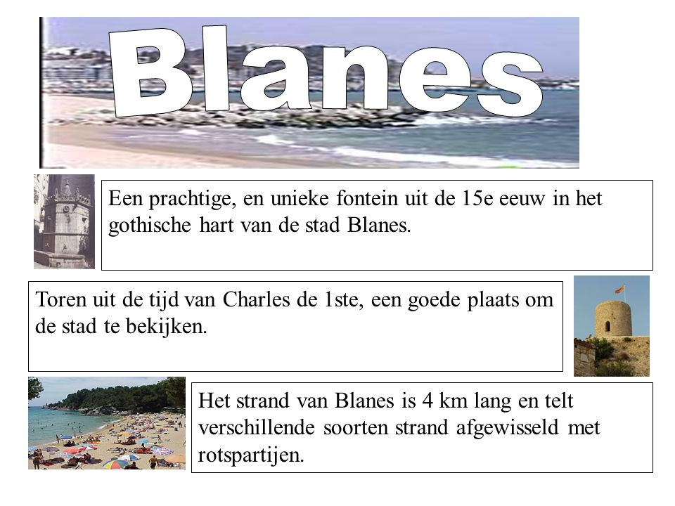 Blanes Een prachtige, en unieke fontein uit de 15e eeuw in het gothische hart van de stad Blanes.
