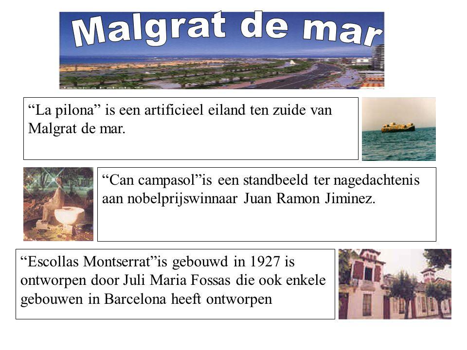 Malgrat de mar La pilona is een artificieel eiland ten zuide van Malgrat de mar.