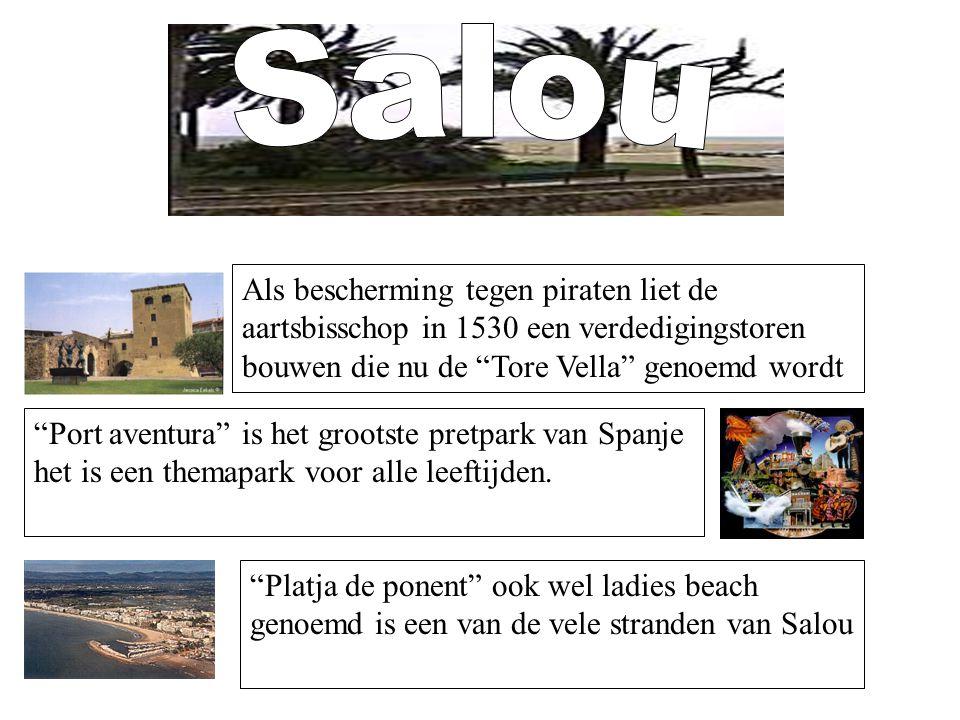 Salou Als bescherming tegen piraten liet de aartsbisschop in 1530 een verdedigingstoren bouwen die nu de Tore Vella genoemd wordt.