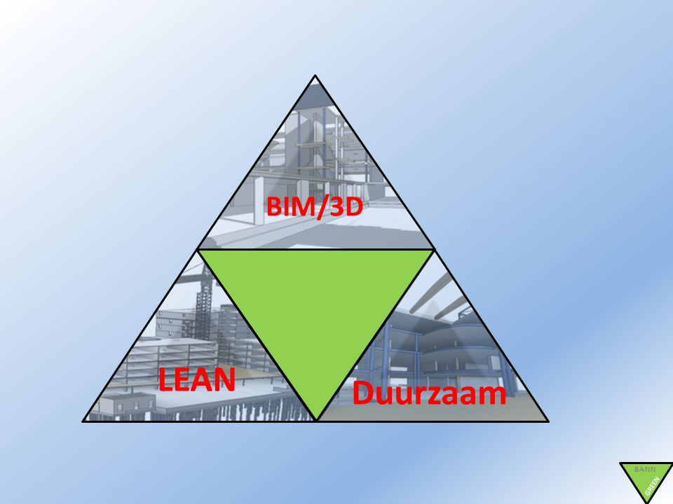 BIM/3D LEAN Duurzaam BANN GREEN