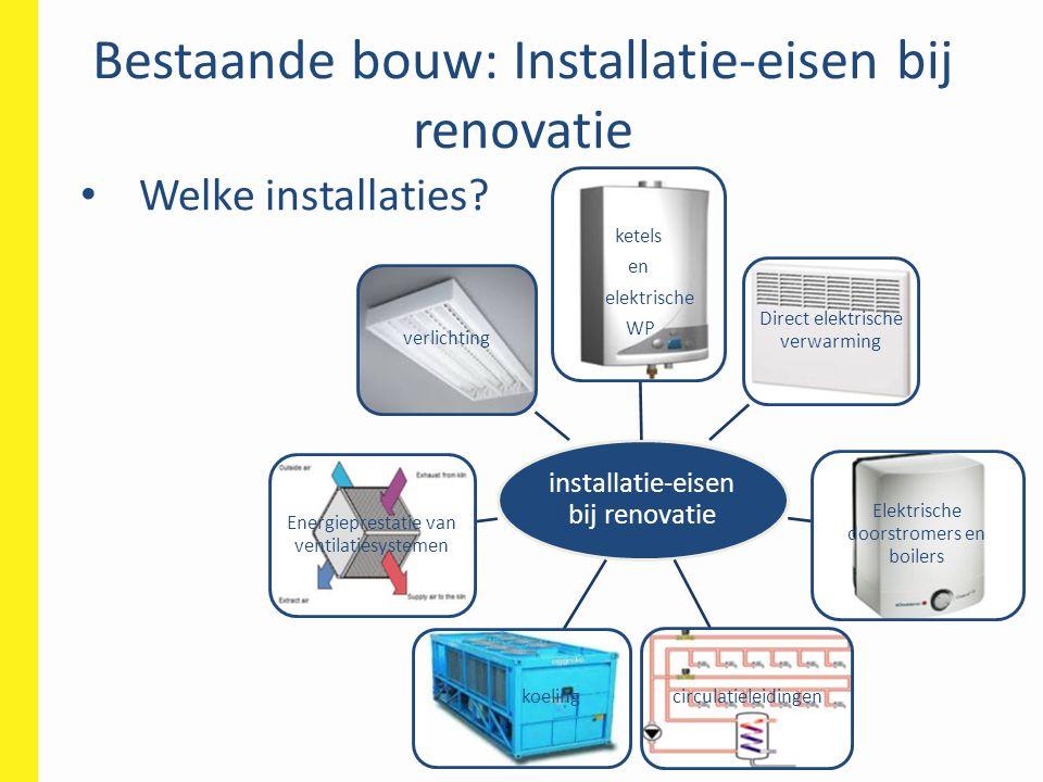 Bestaande bouw: Installatie-eisen bij renovatie