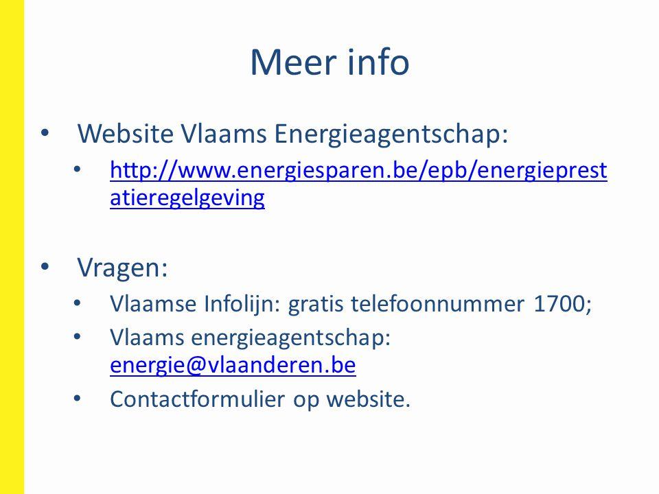 Meer info Website Vlaams Energieagentschap: Vragen: