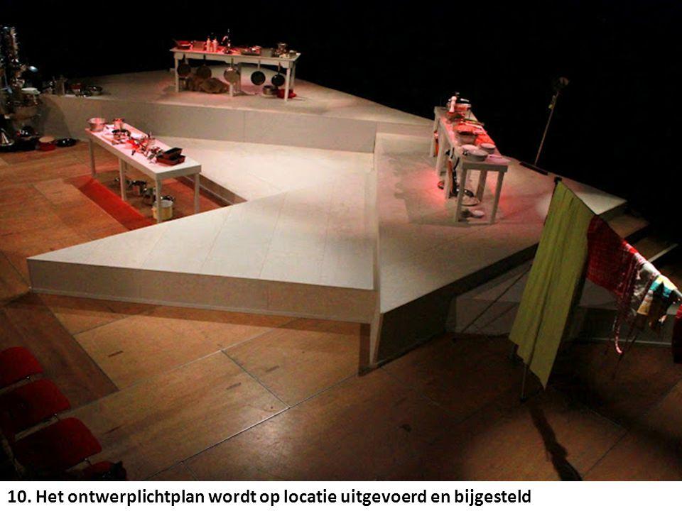 10. Het ontwerplichtplan wordt op locatie uitgevoerd en bijgesteld