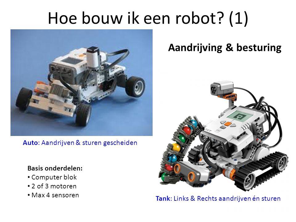 Hoe bouw ik een robot (1) Aandrijving & besturing