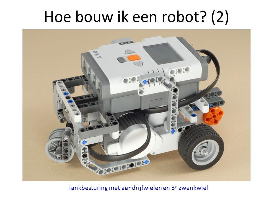 Hoe bouw ik een robot (2) Tankbesturing met aandrijfwielen en 3e zwenkwiel