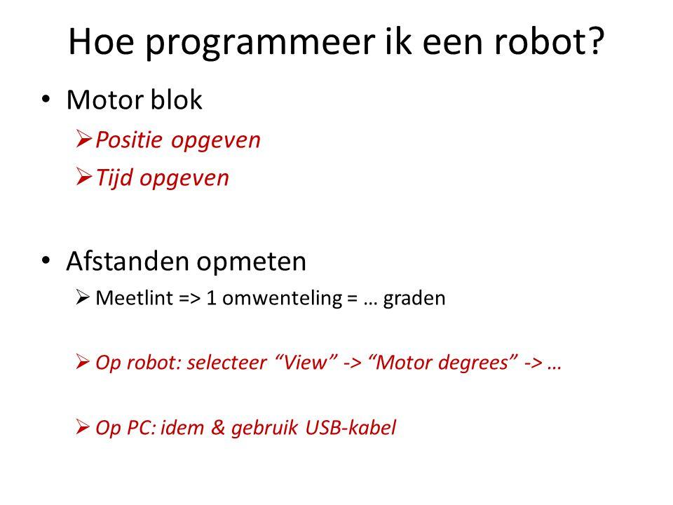Hoe programmeer ik een robot