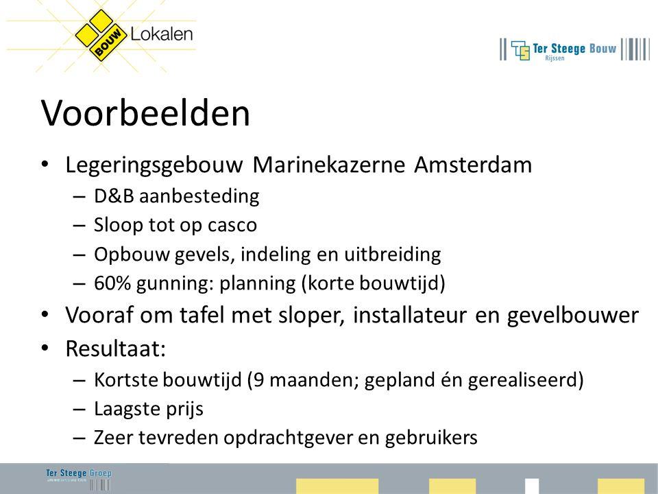 Voorbeelden Legeringsgebouw Marinekazerne Amsterdam