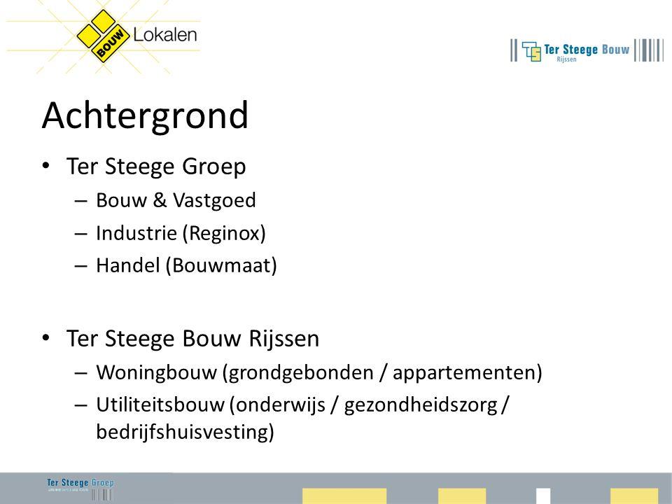Achtergrond Ter Steege Groep Ter Steege Bouw Rijssen Bouw & Vastgoed