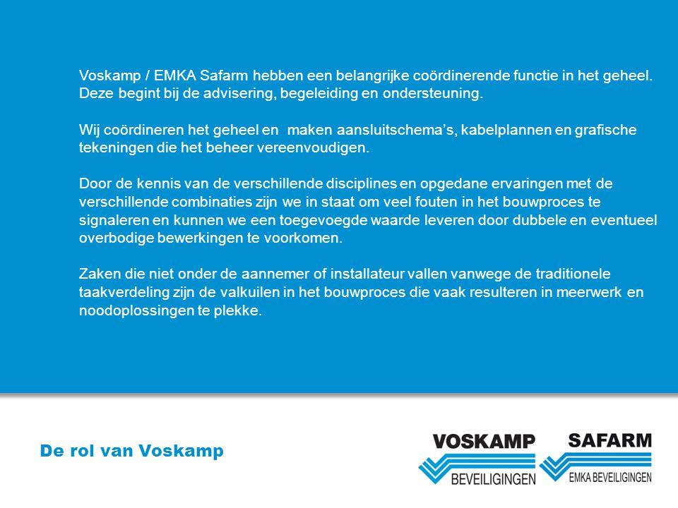 Voskamp / EMKA Safarm hebben een belangrijke coördinerende functie in het geheel.
