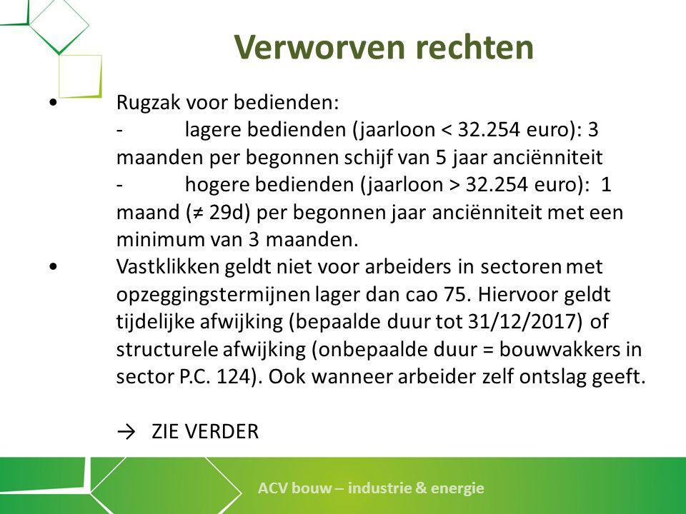 Verworven rechten • Rugzak voor bedienden:
