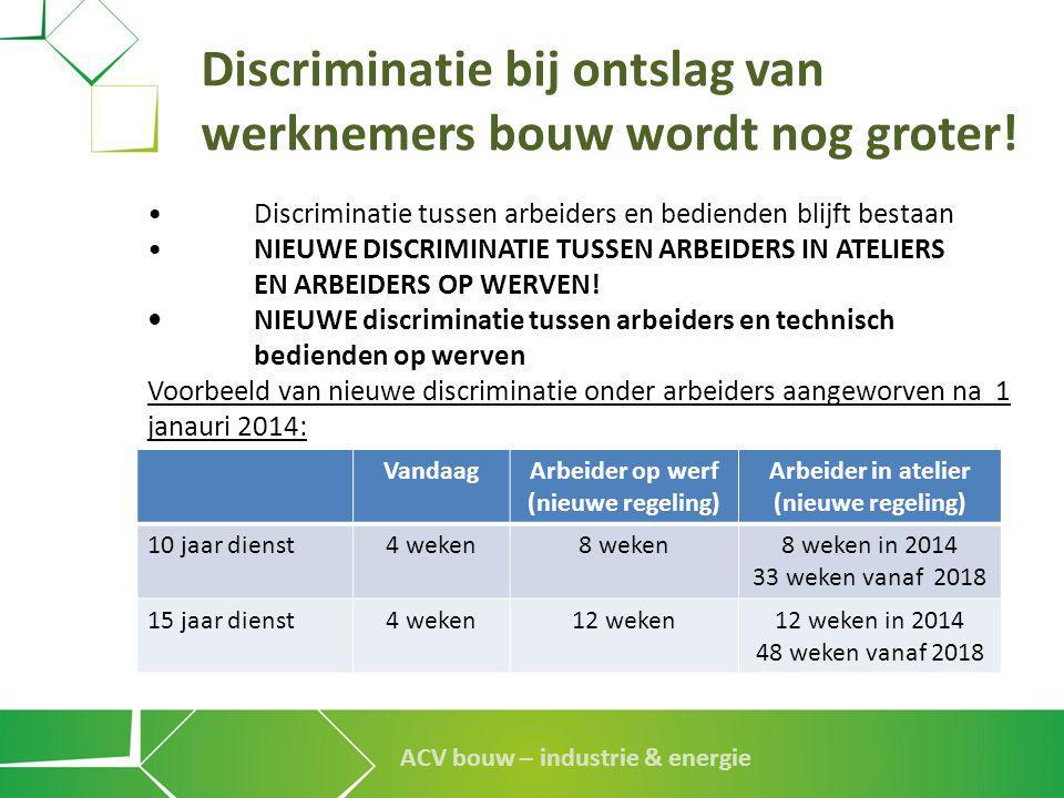 Discriminatie bij ontslag van werknemers bouw wordt nog groter!