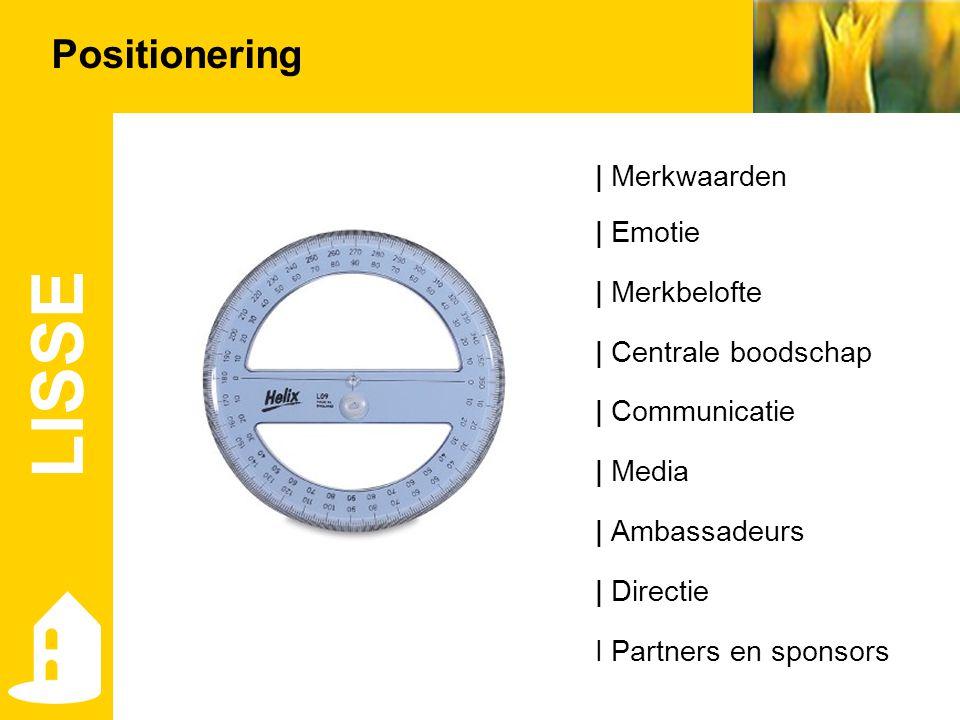 LISSE Positionering | Merkwaarden | Emotie | Merkbelofte