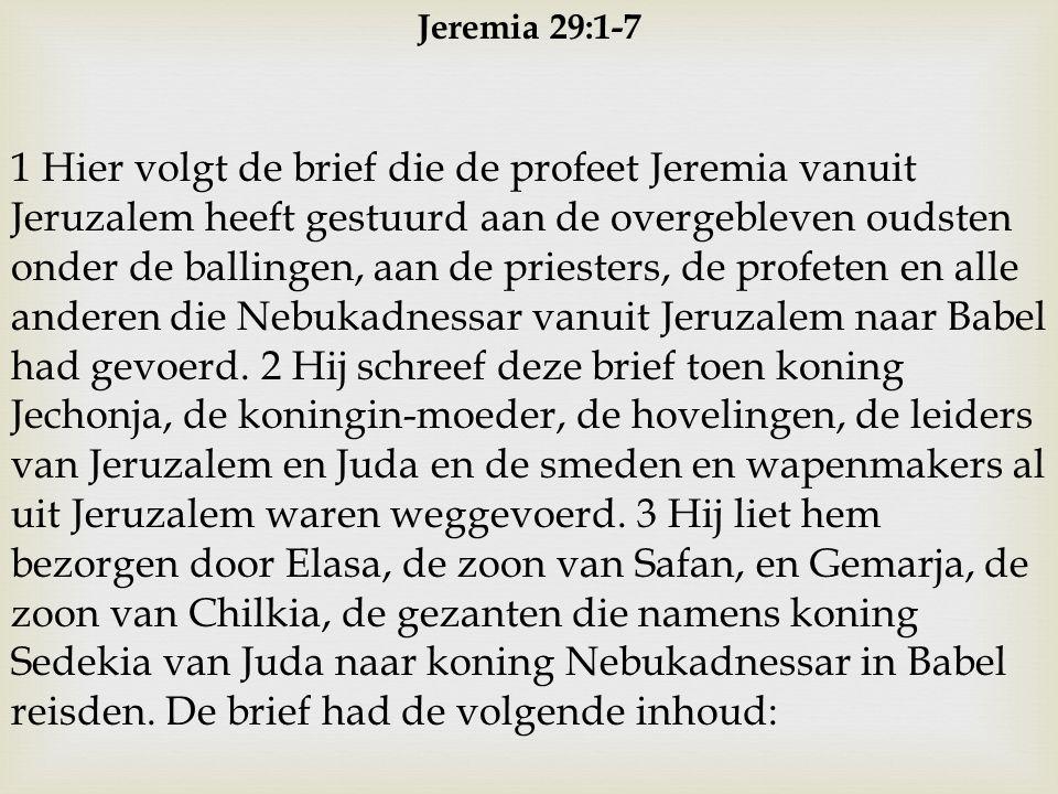 Jeremia 29:1-7