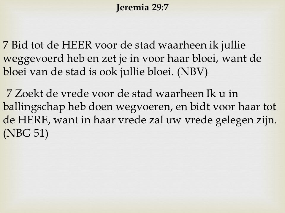 Jeremia 29:7