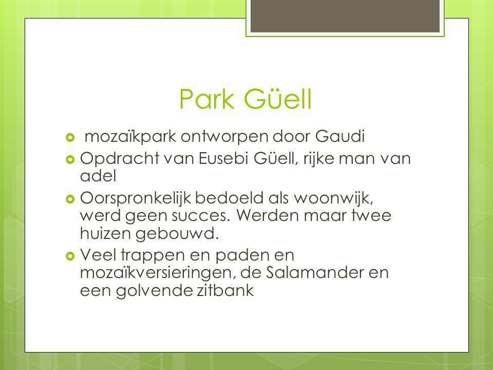 Park Güell mozaïkpark ontworpen door Gaudi