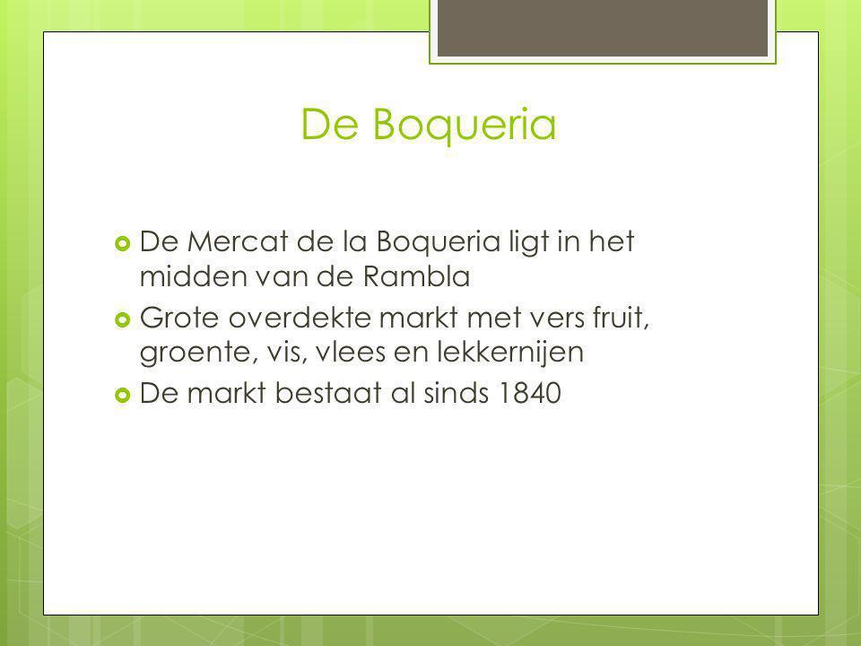 De Boqueria De Mercat de la Boqueria ligt in het midden van de Rambla