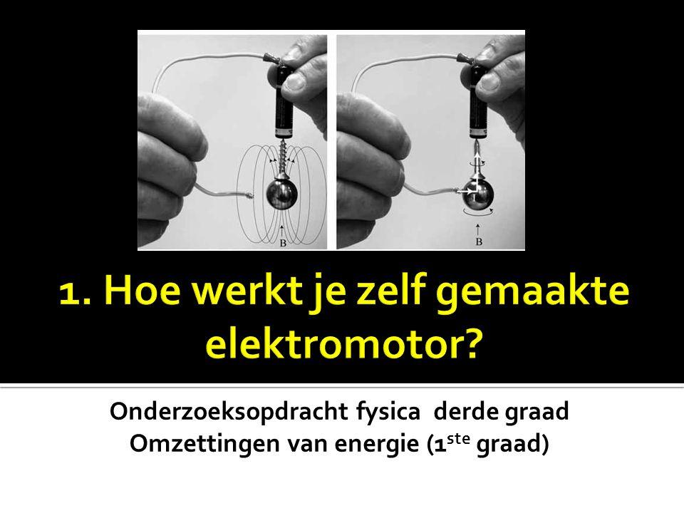 1. Hoe werkt je zelf gemaakte elektromotor