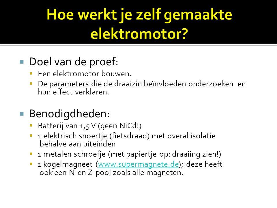 Hoe werkt je zelf gemaakte elektromotor