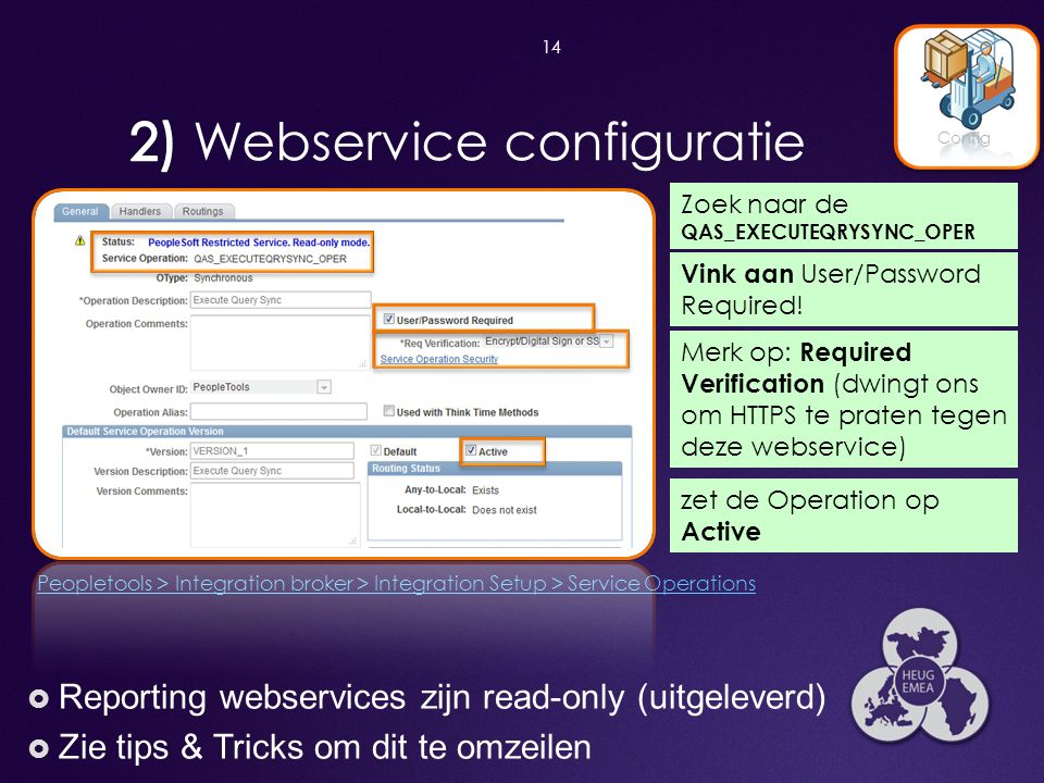 2) Webservice configuratie
