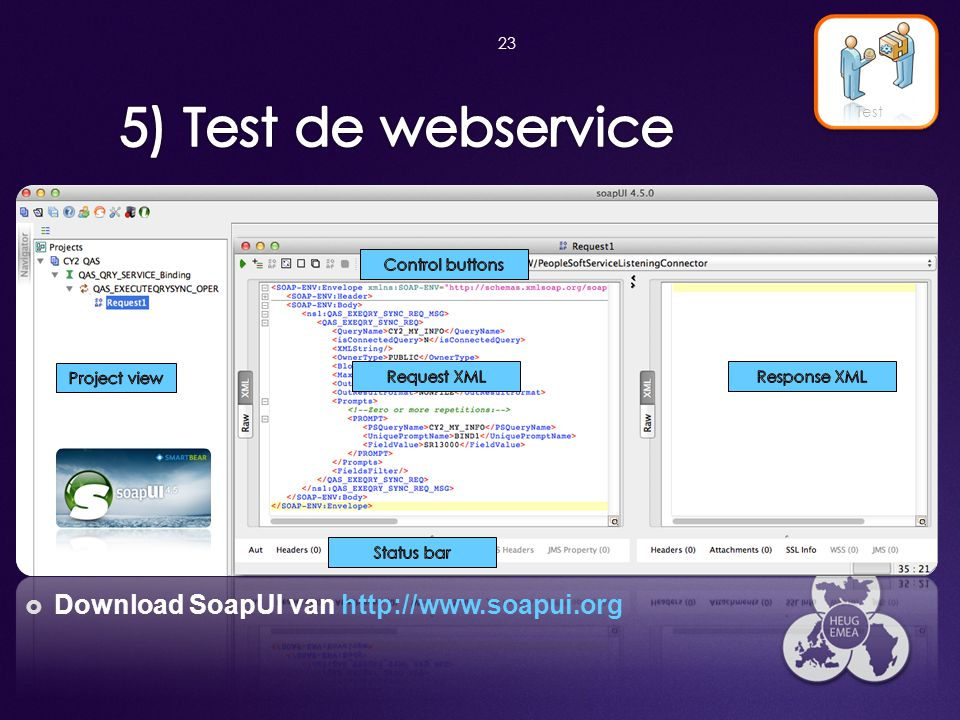 5) Test de webservice Download SoapUI van