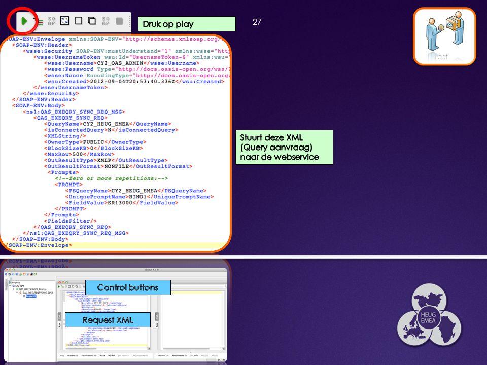 Stuurt deze XML (Query aanvraag) naar de webservice