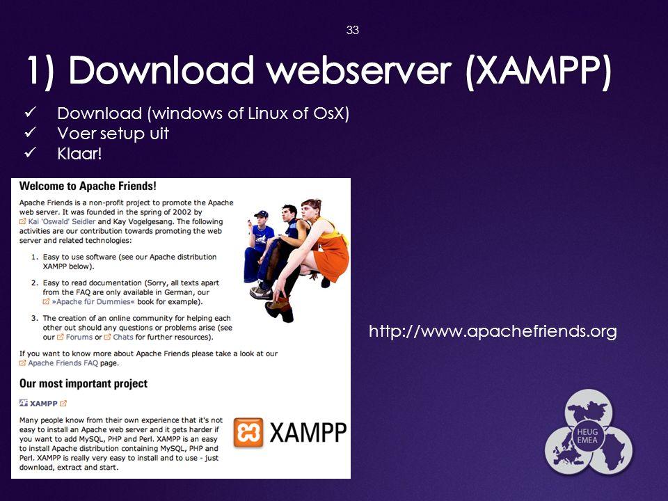 1) Download webserver (XAMPP)