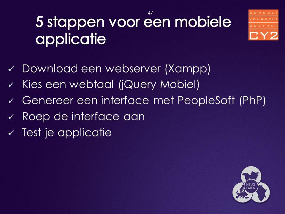 5 stappen voor een mobiele applicatie