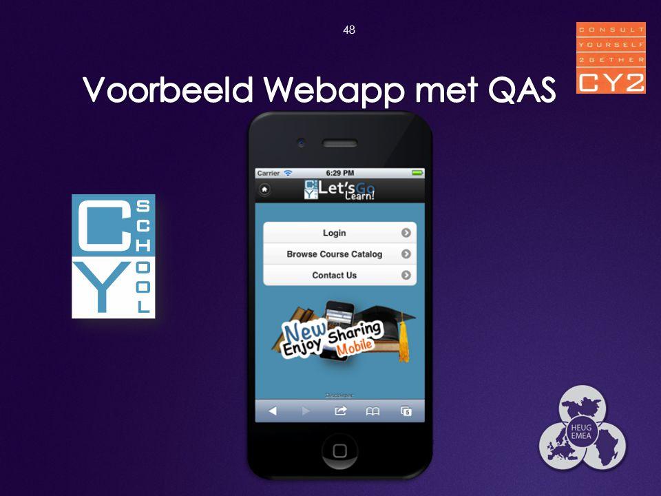 Voorbeeld Webapp met QAS
