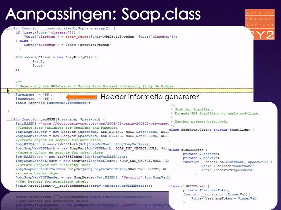 Aanpassingen: Soap.class