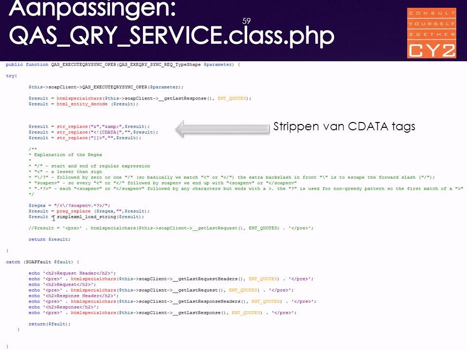 Aanpassingen: QAS_QRY_SERVICE.class.php