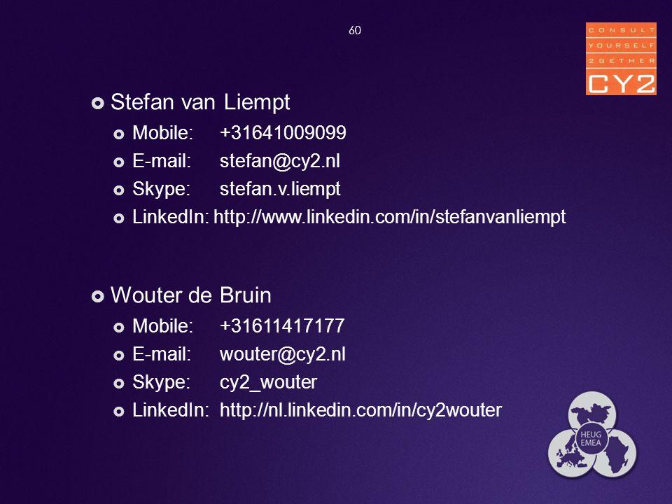 Stefan van Liempt Wouter de Bruin Mobile: +31641009099