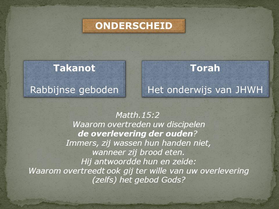 ONDERSCHEID Takanot Torah