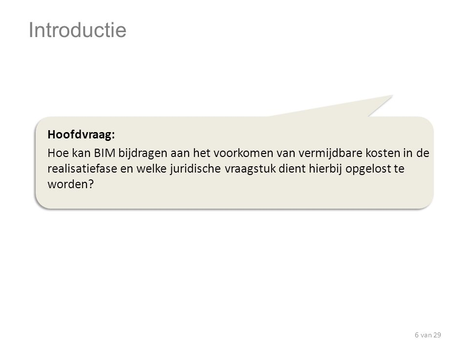 Introductie Hoofdvraag: