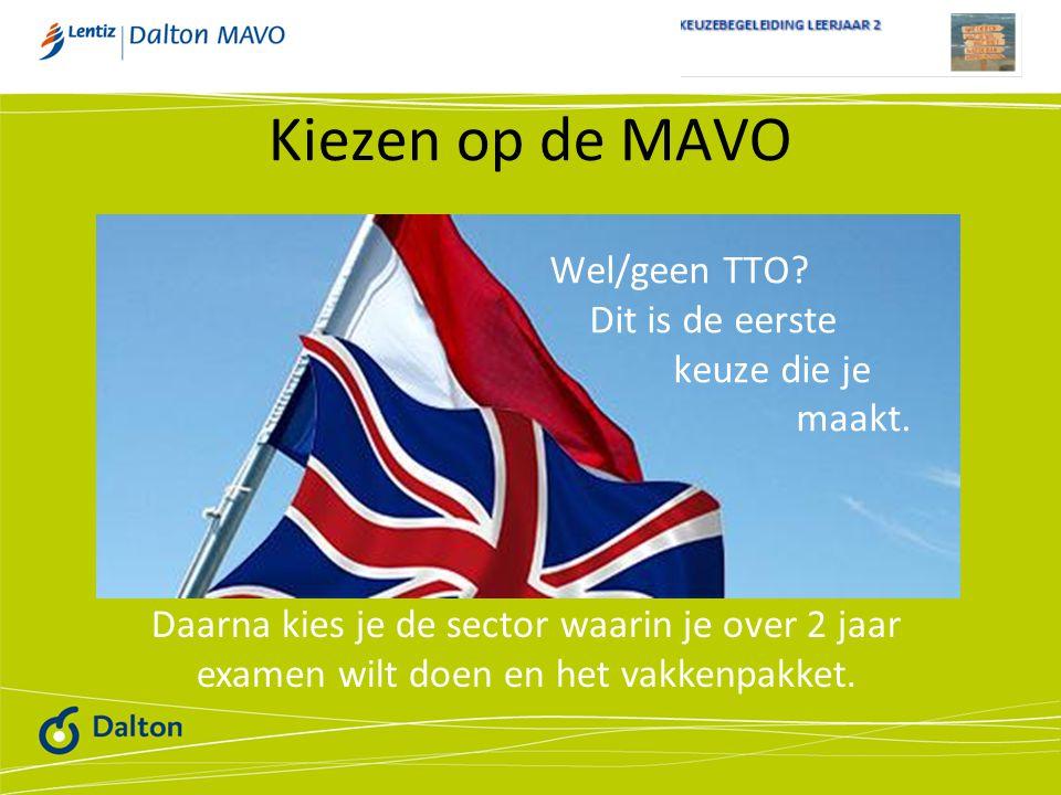 Kiezen op de MAVO Wel/geen TTO Dit is de eerste keuze die je maakt.