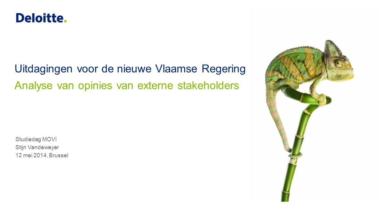Uitdagingen voor de nieuwe Vlaamse Regering