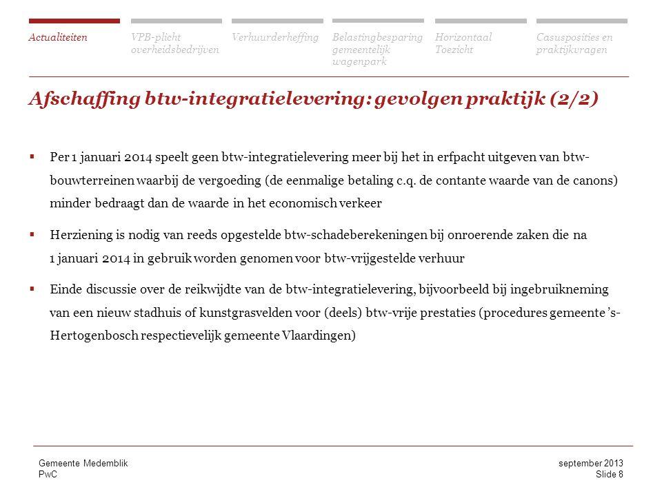 Afschaffing btw-integratielevering: gevolgen praktijk (2/2)