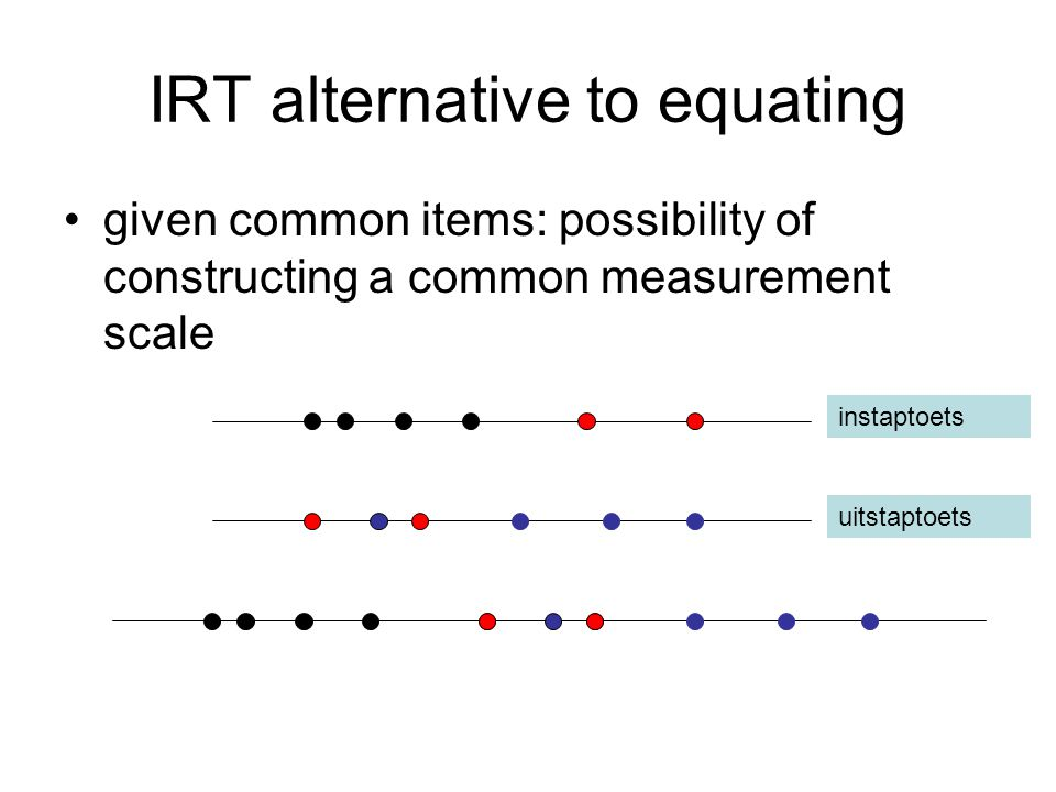 IRT alternative to equating