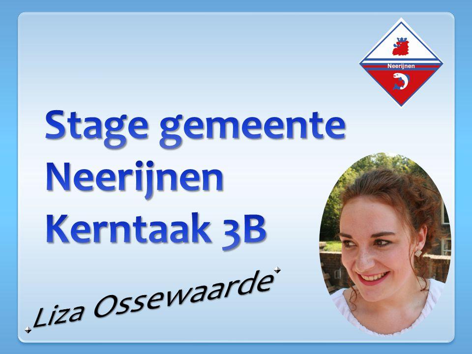 Stage gemeente Neerijnen Kerntaak 3B