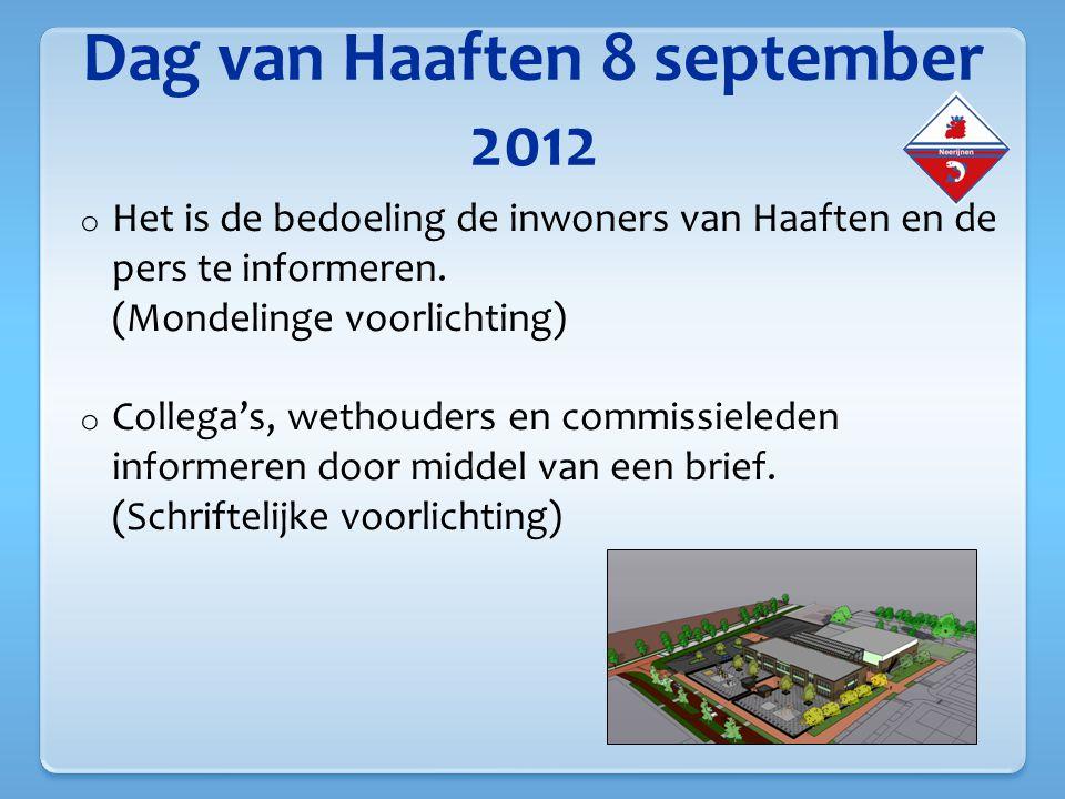 Dag van Haaften 8 september 2012