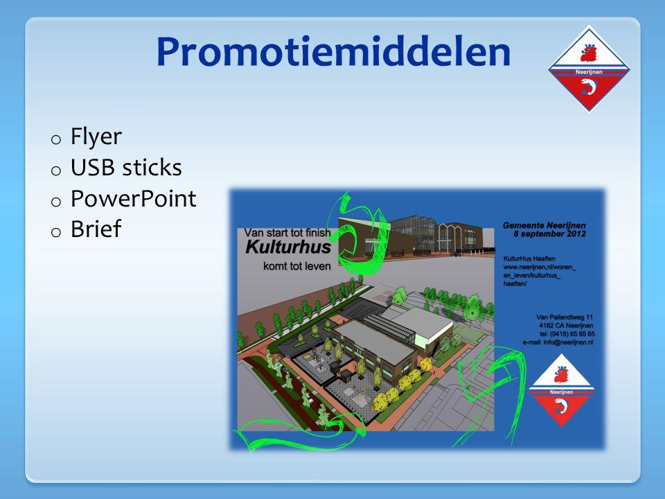 Promotiemiddelen Flyer USB sticks PowerPoint Brief