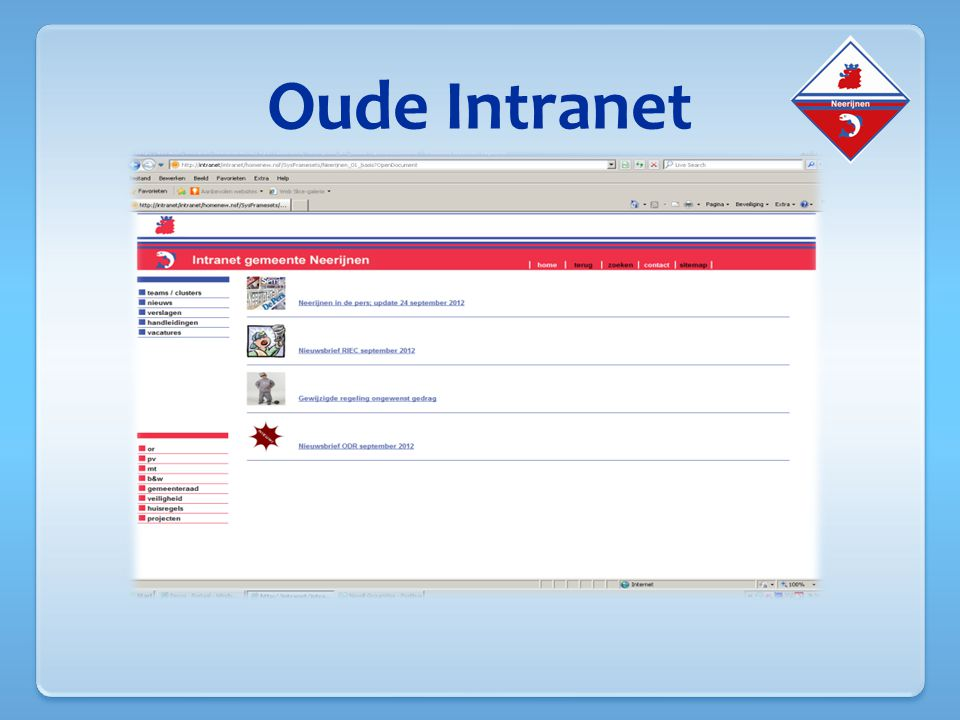 Oude Intranet