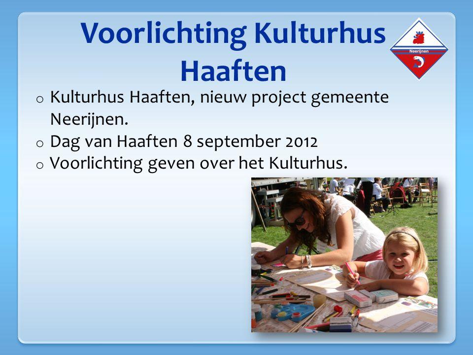 Voorlichting Kulturhus Haaften