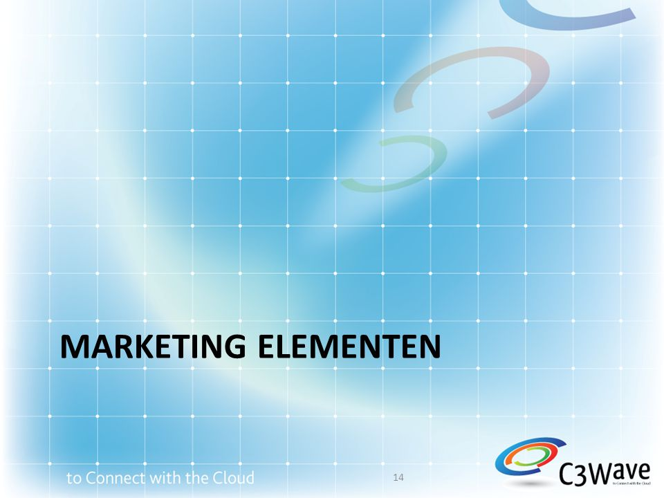 marketing elementen