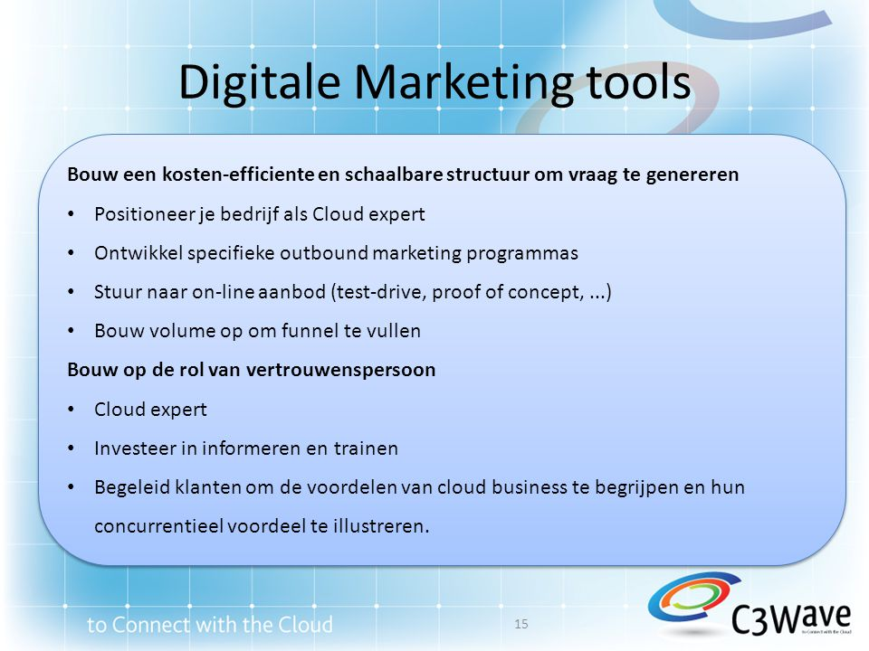 Digitale Marketing tools