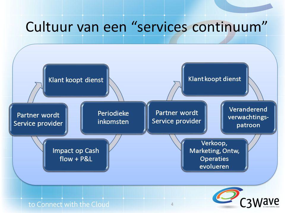 Cultuur van een services continuum