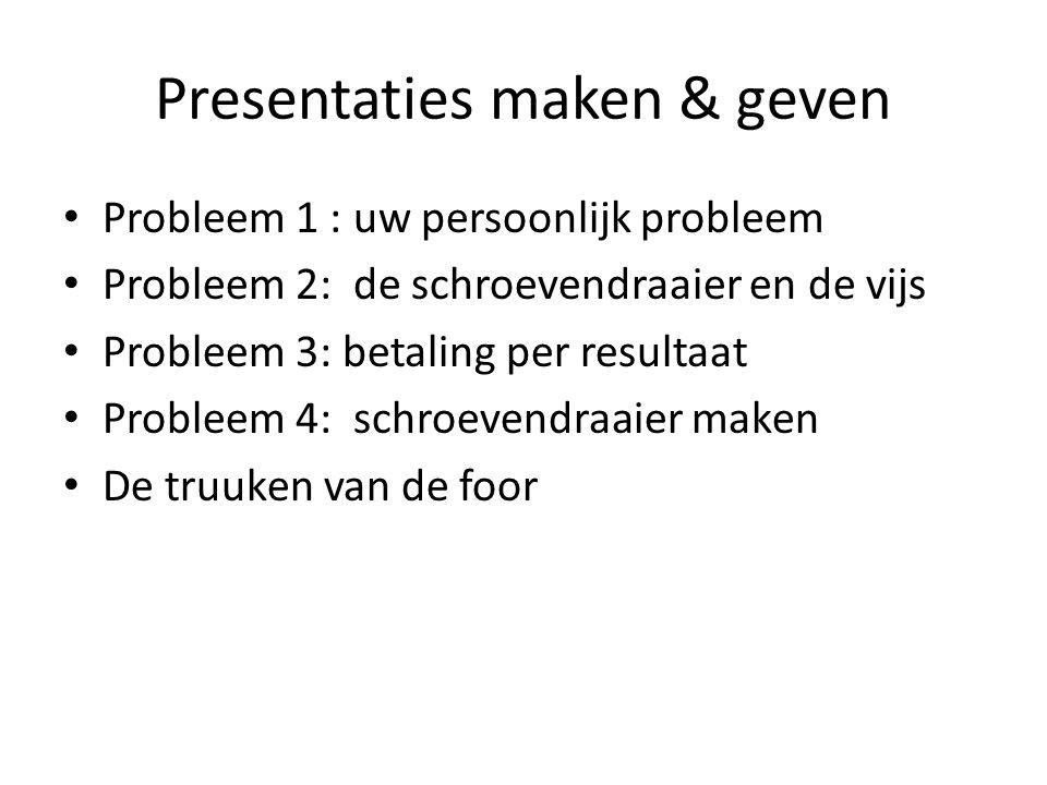 Presentaties maken & geven