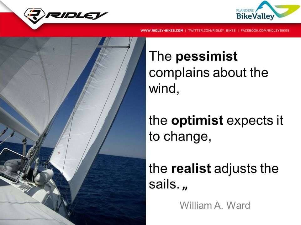 The pessimist complains about the wind,