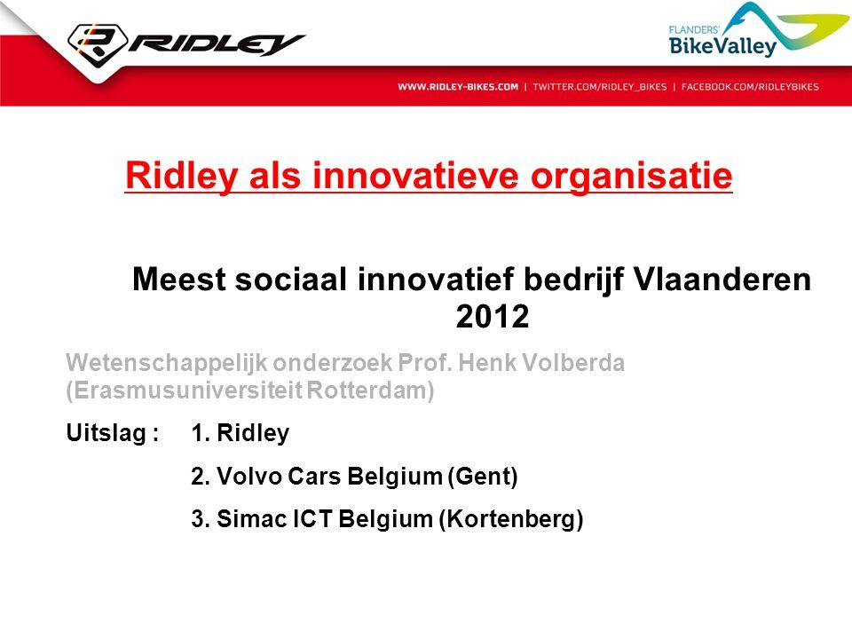 Ridley als innovatieve organisatie