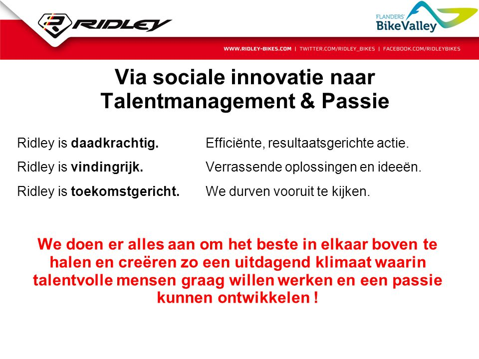 Via sociale innovatie naar Talentmanagement & Passie